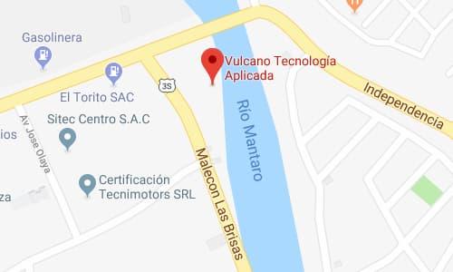 Mapa Vulcanotec planta Huancayo