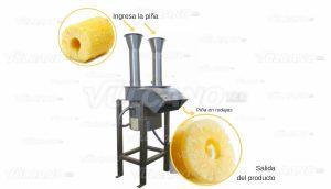 Rodajadora de Piña - prueba con Piña
