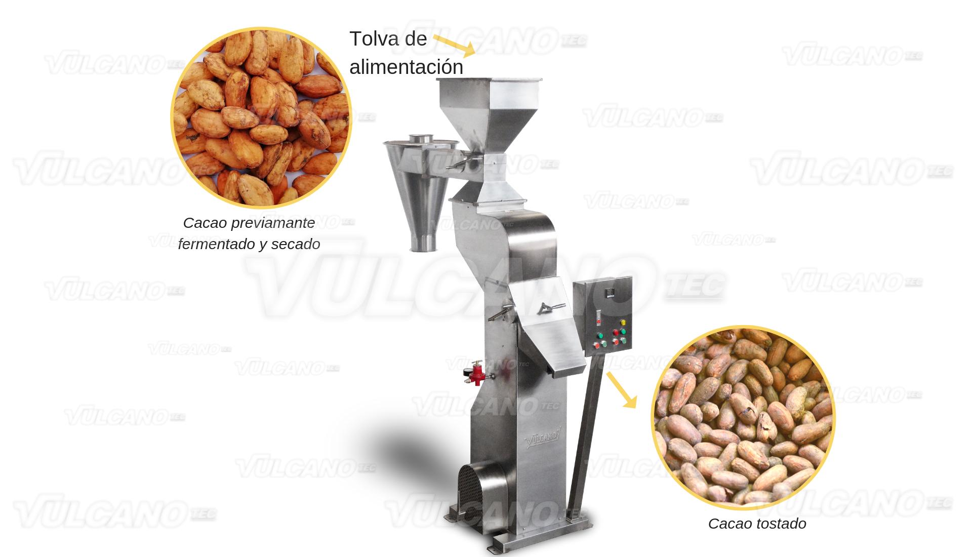 Tostadora - prueba con cacao